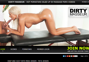 Popular porn site for massage videos.