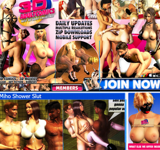 Top rated 3D porn website paid focused on adult comics