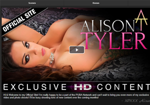 Cheap pay porn site for Alison Tyler fans.