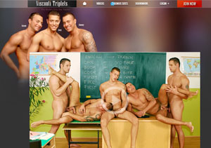 Fine gay pay porn site focused on threesomes.